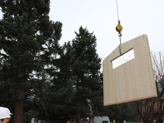 mass timber wall pre fabricated