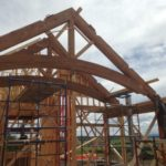recycled trusses installation
