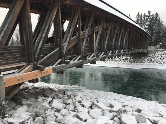 golden bc timber frame bridge repairs
