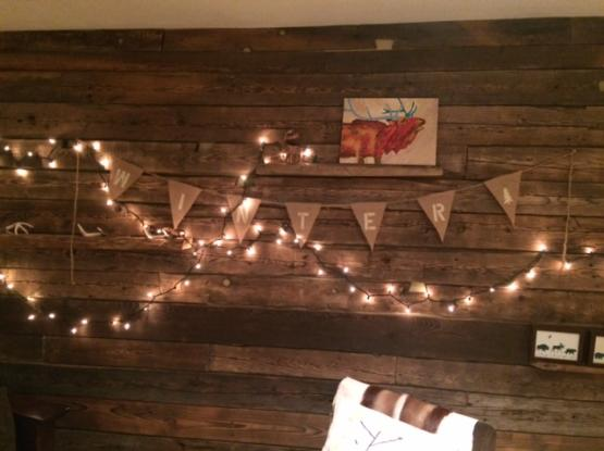 a wall of reclaimed wood