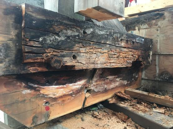 rotten timbers to replace