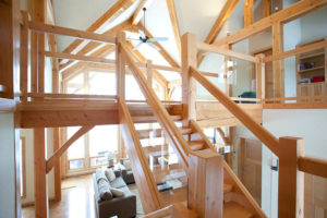 ecofriendly glass and timber railings