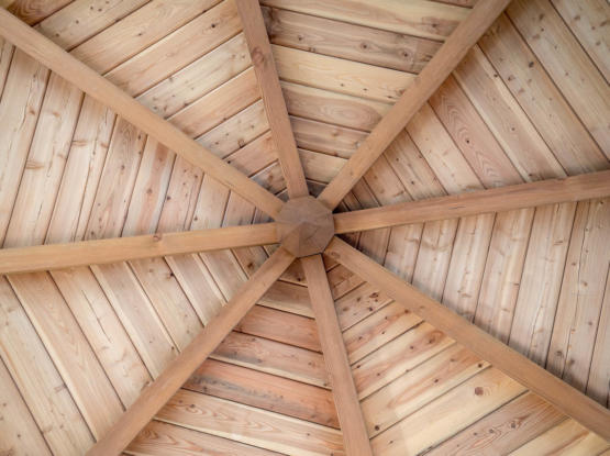 T&G architectural ceiling