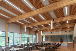 Dowel Laminated CLT ceiling