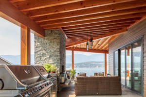 Timber covered deck architecture