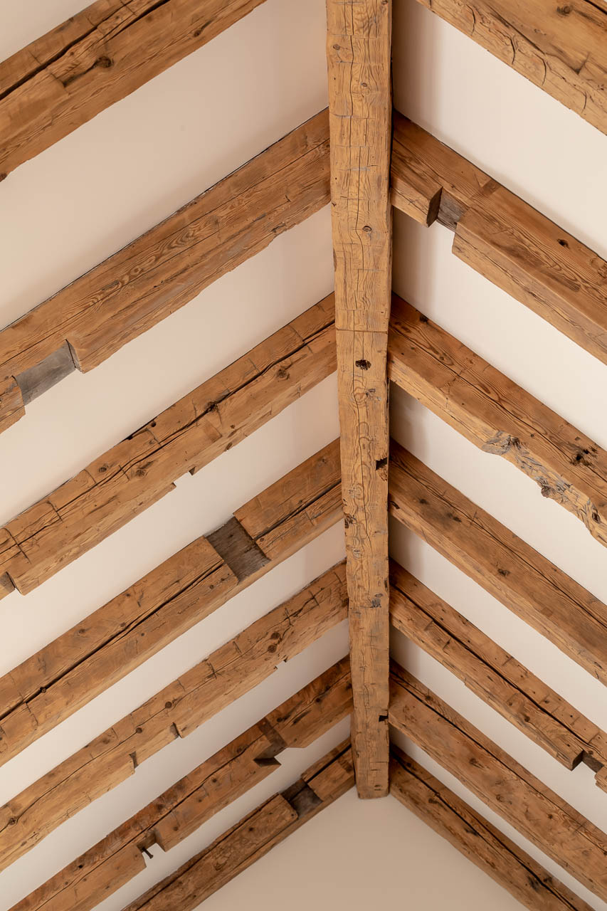 recycled wood ceiling