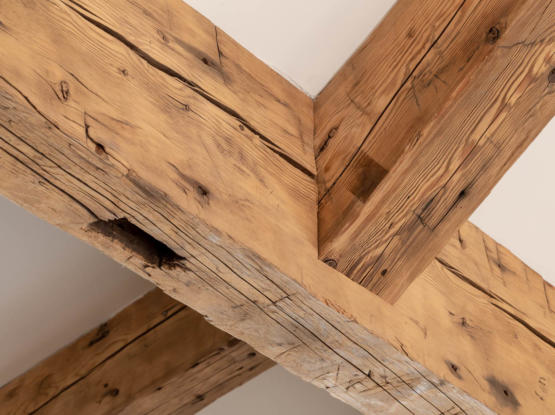 reused barnwood timber