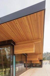 DLT mass timber Roof in bc