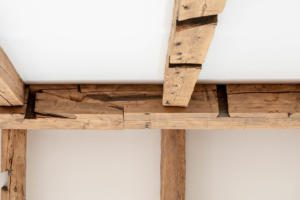 reclaimed timber ceiling beams
