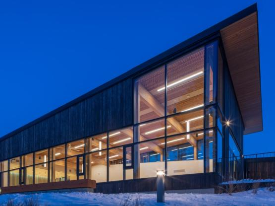 mass timber Radium Community Centre