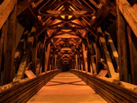 beautiful timberframe bridge bc