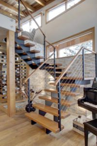 open tread modern timber stairs