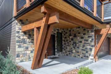 modern timber frame home builder in canmore alberta